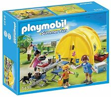 PLAYMOBIL Family Camping Trip Playset For Kids Ages 4 Years And Up 5435 New