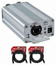 Chauvet DJ DMX-AN Art-Net to DMX or DMX to Art-Net Interface Converter+2) Cables