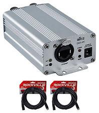 Chauvet DJ DMX-AN Art-Net to DMX or DMX to Art-Net Interface Converter+2) Cables