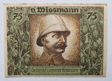 """75 Pfennig """" Kolonial Gedenktag , von Wissmann """""""