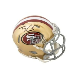 Trey Lance Autographed San Francisco 49ers Speed Mini Football Helmet - BAS