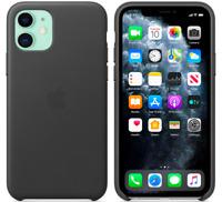 Schwarz iPhone 11 / 6,1″ Apple Echt Original Leder Hülle Leather Case