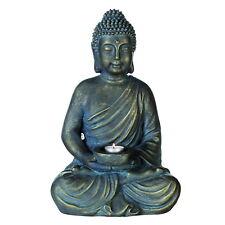 "CASABLANCA Escultura"" Buda con Plato Para Velas"" Magnesia indoor-outdor H 40.00"