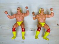 WWF LJN 1984 Hulk Hogan Action Figures LOT of 2 Vintage Wrestling Collectibles