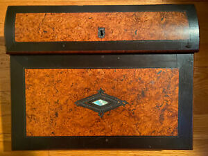 Antique Writing Box Desk And Quill Pen