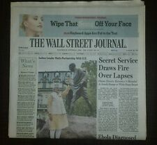 The Wall Street Journal October 1, 2014. Ebola in Texas 1st US case.
