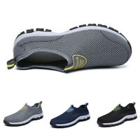 Men's Summer Breathable Mesh Shoes Slip On Loafers Outdoor Sports Water Shoes