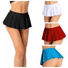 Women Sexy Pleated School Girl Dress Costumes Roleplay Micro Mini Short Skirt