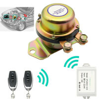 Dual Remote Wireless Electromagnetic Car Battery Switch Disconnect Kill System