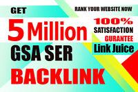 5 MILLION GSA SER Google Authority Backlinks for Multi-level Tier - Get Ranked