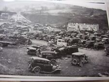 1920 'S 1930 ' S  JUNK YARD SCRAP  CHEV FORD BUICK    12 X 18  PHOTO  PICTURE