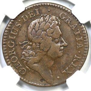1723 4.75-Gb.6 NGC VF 25 Wood's Hibernia Colonial Copper Coin 1/2p
