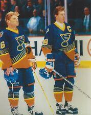 WAYNE GRETZKY & BRETT HULL 8X10 PHOTO HOCKEY ST. LOUIS BLUES NHL PICTURE
