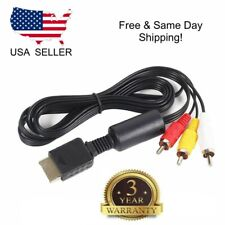 New Slim PlayStation Ps1 Ps2 Ps3 Av Audio Video Cable Cord Rca A/V 6Z Us Seller