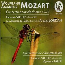 MOZART  concerto et quintette avec clarinette  RICHARD VIEILLE, ARMIN JORDAN