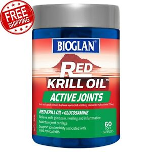 Bioglan Red Krill Oil Active Joints 60 Capsules Relieve Pain & Inflammation