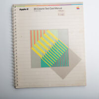 VINTAGE Apple II 80-Column Text Card Manual Apple IIe Only
