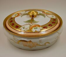 ANTIQUE PICKARD CHINA ` LIMOGES FRANCE HAND PAINTED   TUREEN ~ COVERED BOWL
