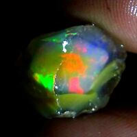 15.90Cts.  Ethiopian Fire Welo Opal Play Of Color Rough Specimen Ring Necklace