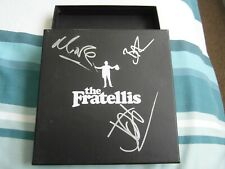 """SIGNED THE FRATELLIS NUMBERED BOX FOR 7"""" VINYL SET-MINT"""