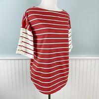 SIZE Small S Ralph Lauren Cotton Red Nautical Shirt Top Blouse Women's New NWT