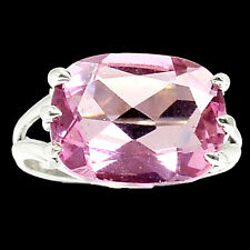 Pink Kunzite 925 Sterling Silver Ring Jewelry s.9 RR34638