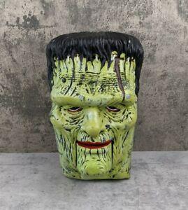 Gemmy Lifesize Frankenstein Door Greeter Singing Head Halloween Prop Animated