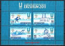 TURKEY 2011 25TH WINTER UNIVERSIADE ERZURUM ( SKI ) MNH