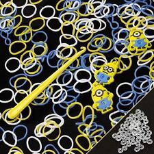 200 Despicable Me Minion Loom Bands Includes Hook & S-Clips (H88)