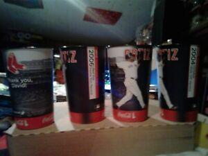 8- BOSTON RED SOX ARAMARK DRINKING CUPS DAVID ORTIZ-LUIS TIANT LOOK OTHERS