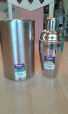 Lot de 1 Shaker inox 50 cl + 1 Rafraîchisseur de bouteille inox