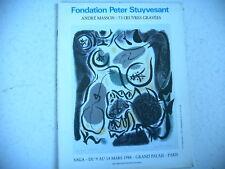 catalogue art gravure ANDRE MASSON
