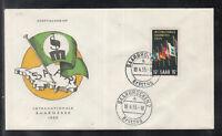 SAAR SAARLAND of beautiful Cover FDC 1955 - International Saar Fair