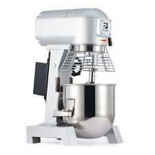 More details for commercial dough mixer stand planetary food bread cake hook beater whip 600w 10l
