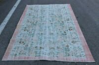 Hand Knotted Traditional Wool Carpet Anatolian Vintage Oushak Area Rug 5x8 ft