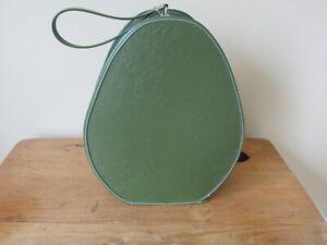 Vintage Green Teardrop Oval Egg Shaped Travel Suitcase