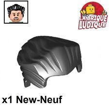 Lego - 1x Minifig cheveux coiffure hair court lisse noir/black 64798 NEUF