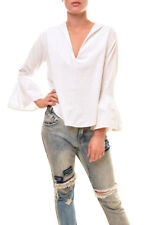 One Teaspoon Women's Authentic Loose Shirts White Size S RRP $119 BCF85
