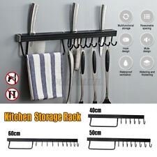 Wall Mount Kitchen Hooks Tools Shelves Spoon Forks Storage Utensils Stand  #F