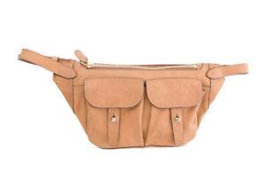 $995 RALPH LAUREN COLLECTION 2017 Nubuck Natural Camel Leather Waist Belt Bag