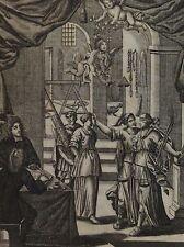 Gottfridt KOLB 16../17..  Kupferstich ca 1700- 1750: Darstellung JUSTICIA, ENGEL