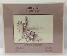 Vintage Mr. K by May Kay Cologne 3.75 oz & Lotion 4 oz Gift Set- New ~ Old Stock