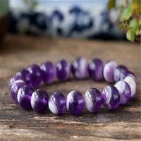 1pcs Amethyst Gemstone bracelet mala Grade Tassel Fancy Handmade Meditation