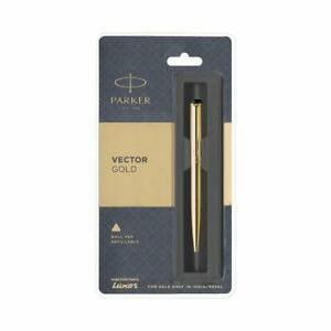 Parker Vector Gold Ball Pen ~ Original, Sealed, Brand New * FREE SHIPPING