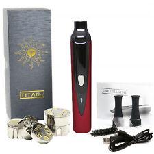 Hebe Titan 1 Portable Dry Herb Vaporizer Red, 2200mAh Battery **FREE GRINDER**