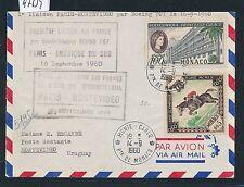 97639) France AF FF Paris - Montevideo 16.9.60, Brief ab Monaco