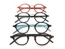 Trendy Reading Glasses +1.25 to +3.00 Mens Womens Orange Blue Retro Readers