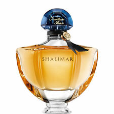 GUERLAIN SHALIMAR PERFUME BACCARAT CRYSTAL BOTTLE & BODY CREAM DRESSER GIFT SET!