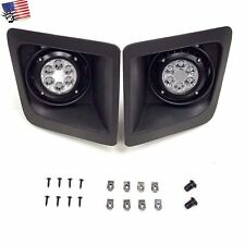 For 2014-2015 GMC Sierra with Built-in LED Front Bumper Clear Fog Driving Lights