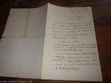 1865.Lettre autographe à Pierre Zaccone.Charlieu et Huillery (éditeur)